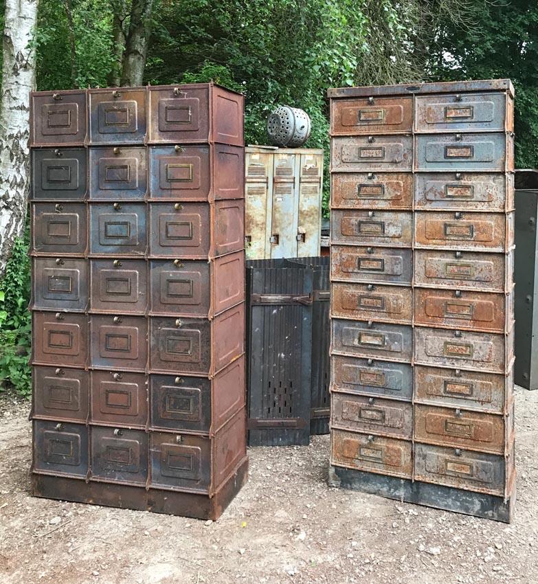 Meubles de rangement industriel m tal bois - Restauration meuble industriel ...